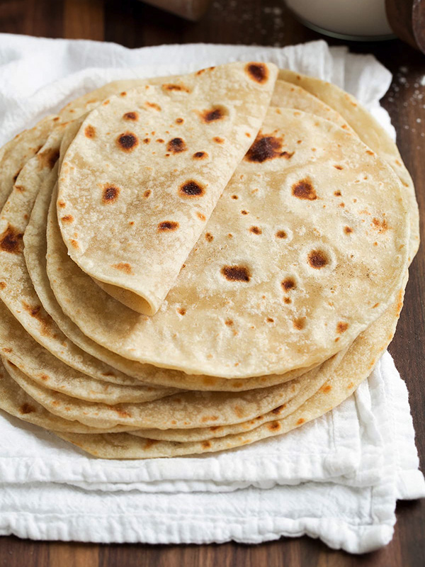 Tortillas di farina di mais fatte in casa