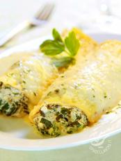 Cannelloni agli spinaci e zafferano