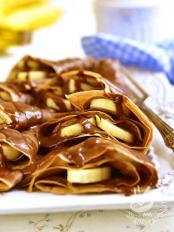 Crepes alla banana e nutella