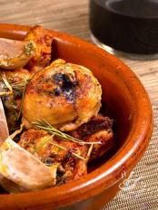 Pollo all'aglio al forno (Garlic Chicken)