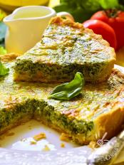 Quiche di emmental broccoli e spinaci