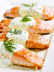 Salmone allo yogurt
